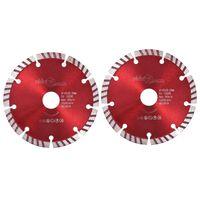vidaXL Diamantové rezacie kotúče s turbom 2 ks oceľové 125 mm