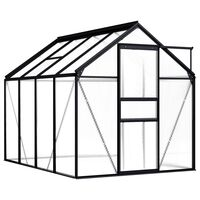 vidaXL Skleník antracitový hliníkový 4,75 m²
