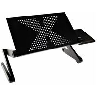 United Entertainment Multifunkčný stojan na notebook čierny