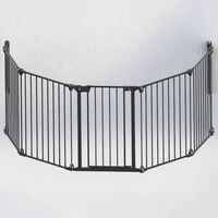 Noma 5-panelová bezpečnostná zábrana Modular, kovová, čierna, 94238