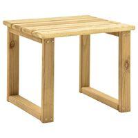 vidaXL Stolík k lehátku 30x30x26 cm impregnované borovicové drevo