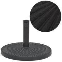 vidaXL Stojan na slnečník, živicový, okrúhly, čierny, 29 kg