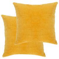 vidaXL Vankúše bavlnené zamatové 2 ks 45x45 cm žlté