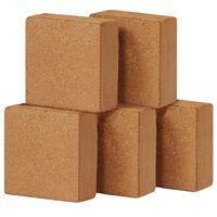 vidaXL Blok z kokosového vlákna 5 ks 5 kg 30x30x10 cm