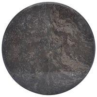 vidaXL Stolová doska čierna Ø50x2,5 cm mramor
