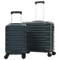 vidaXL Súprava cestovných kufrov s tvrdým krytom 2 ks zelená ABS