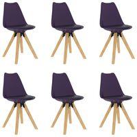 vidaXL Jedálenské stoličky 6 ks, fialové
