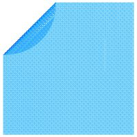 vidaXL Plávajúca okrúhla solárna bazénová fólia z PE 455 cm, modrá