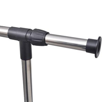 vidaXL Nastaviteľný vešiak na oblečenie 2 ks 1 závesná koľajnica