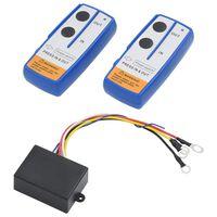 vidaXL Bezdrôtové diaľkové ovládače pre naviják 2 ks s prijímačom