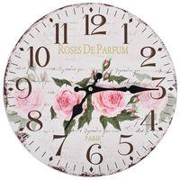 vidaXL Vintage nástenné hodiny, kvety 30 cm