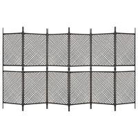 vidaXL 6-panelový paraván hnedý 360x200 cm polyratanový