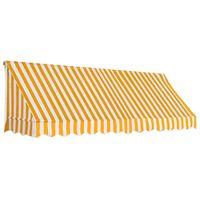 vidaXL Bistro markíza oranžovo-biela 300x120 cm