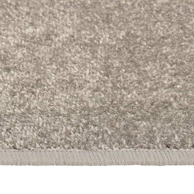 vidaXL Koberce do spálne chlpaté s dlhým vlasom 3 ks sivé