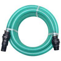 vidaXL Sacia hadica s konektormi 10 m 22 mm zelená