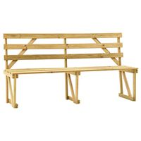 vidaXL Záhradná lavička 170 cm impregnovaná borovica
