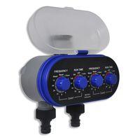 Záhradný automatický časovač vody pre zavlažovanie dvojitý výstup