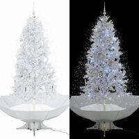 vidaXL Snežiaci vianočný stromček dáždnikovým podstavcom  biely 190 cm