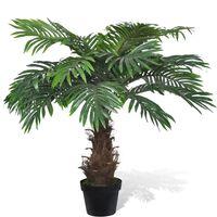 Umelá palma Cykas v črepníku, 80 cm