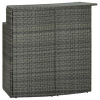 vidaXL Záhradný barový stôl sivý 120x55x110 cm polyratan
