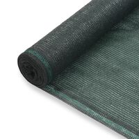 vidaXL Zástena na tenisový kurt, HDPE 1,8x100 m, zelená