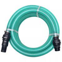 vidaXL Sacia hadica s konektormi 4 m 22 mm zelená