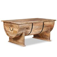 vidaXL Konferenčný stolík z masívneho mangovníkového dreva, 88x50x40cm