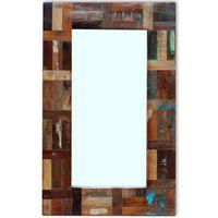 vidaXL Zrkadlo, recyklovaný masív 80x50 cm