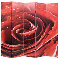 vidaXL Skladací paraván 200x170 cm, potlač červenej ruže