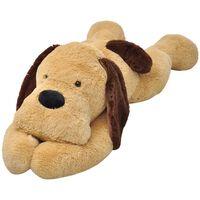 vidaXL Hračka hnedý plyšový psík, 160 cm
