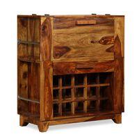 vidaL Barová skrinka z masívneho sheeshamového dreva, 85x40x95 cm