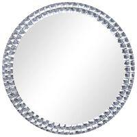 vidaXL Nástenné zrkadlo 70 cm tvrdené sklo