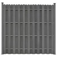 vidaXL Plotový panel s 2 stĺpikmi, WPC 180x180 cm, sivý