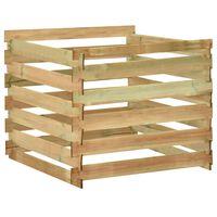 vidaXL Latkový záhradný kompostér 100x100x80 cm impregnovaná borovica