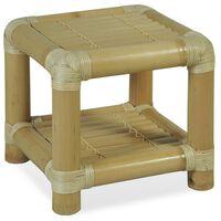 vidaXL Nočný stolík, 40x40x40 cm, bambus, prírodná farba
