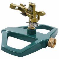 vidaXL Rotačný zavlažovač zelený 21x22x13 cm kovový