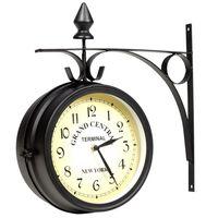 vidaXL Obojstranné nástenné hodiny 20 cm