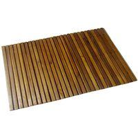 Kúpeľňová predložka z akáciového dreva 80 x 50 cm