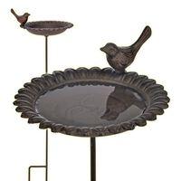 HI Liatinový vtáčí kúpeľ/kŕmitko hnedý
