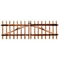 vidaXL Dvojkrídlová brána z impregnovaného lieskového dreva, 300x100 cm