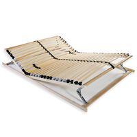 vidaXL Lamelový posteľný rošt s 28 lamelami a 7 zónami 140x200 cm