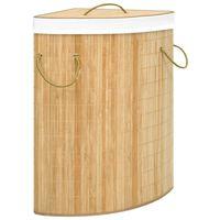 vidaXL Rohový bambusový kôš na bielizeň 60 l