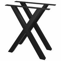 vidaXL Stolové nohy na jedálenský stôl 2 ks, rám v tvare X 60x72 cm
