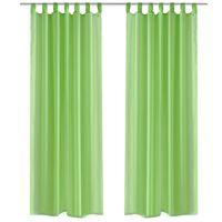 Jablokovo zelená priehľadná záclona 140 x 225 cm 2 ks