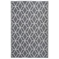 Esschert Design Vonkajší koberec s potlačou 180x121 cm sivo-biely OC25