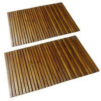 Kúpeľňová podložka z akáciového dreva 80x50 cm 2 ks
