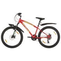 """vidaXL Horský bicykel 21 rýchlostí 26"""" koleso 42 cm rám červený"""