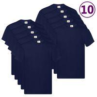 Fruit of the Loom Originálne tričká 10 ks námornícke modré 4XL bavlnené