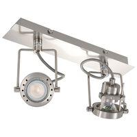 vidaXL 2-smerné bodové svetlo strieborné GU10