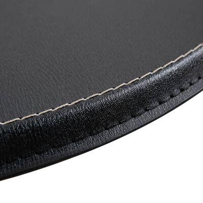 vidaXL Barový stôl čierny Ø60 cm MDF